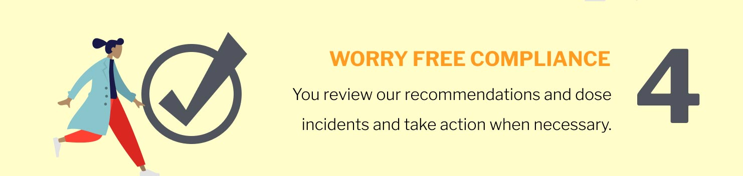 4. You review our recommendations and dose incidents and take action when necessary