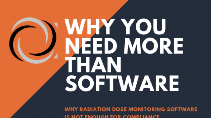 Radiation dose monitoring software data reviewed by medical physicist consultant