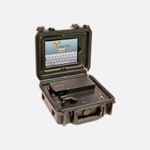 radlight portable radiation measuring dosimeter badge reader for military and first responders in rugged field conditions